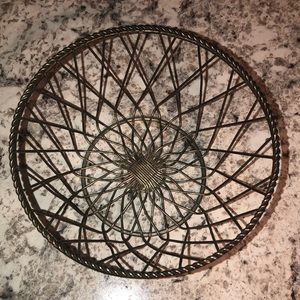 Other - Small Antiqued Silver Metal Basket